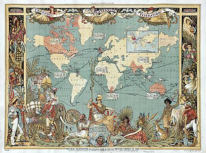 画像:19世紀末のイギリス帝国を描いた地図